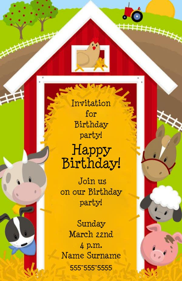 "Intrarea #9 pentru concursul ""Design a Flyer for a Birthday Party"""