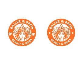 nº 871 pour Logo for a Donut and Boba shop par Sumera313