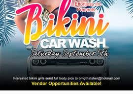 Nro 43 kilpailuun Create a square shaped flyer for a Bikini Car wash käyttäjältä dnamalraj