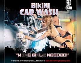 Nro 31 kilpailuun Create a square shaped flyer for a Bikini Car wash käyttäjältä sohanul09