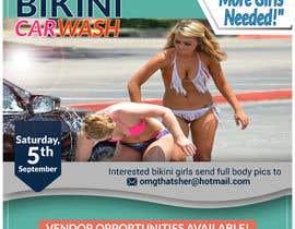 Nro 44 kilpailuun Create a square shaped flyer for a Bikini Car wash käyttäjältä jasmin1652001