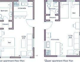 #12 for Design room layout for two 300 sq ft studio apartments by rasheda88