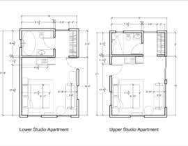 #106 for Design room layout for two 300 sq ft studio apartments by Lekas