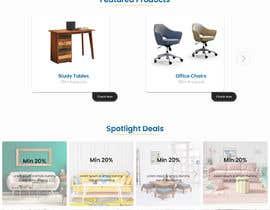 nº 17 pour Homepage Mock-Up for Amish Furniture Website par shihan96