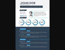 #92 for $15 per single page resume WEBSITE - Submit a quality responsive resume website and I might buy it af shihab9720