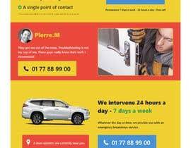 Nro 39 kilpailuun Design landing page käyttäjältä ravisondagar125