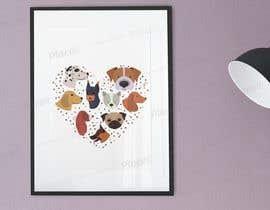 Nro 32 kilpailuun Dog Love Poster käyttäjältä elyssee