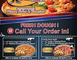 #4 untuk Design a Flyer 1/2 Page in size with Coupons for Pizza Shop oleh georgeecstazy