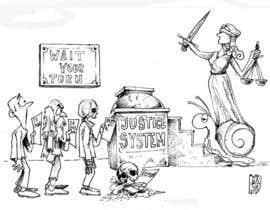 #9 for Justice Delayed is Justice Denied - cartoon / caricature af ecomoglio