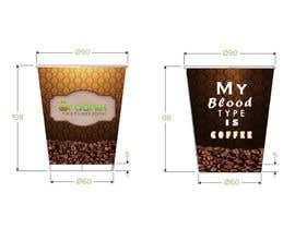#17 untuk Create Print and Packaging Design for a takeaway coffee cup oleh tiagogoncalves96