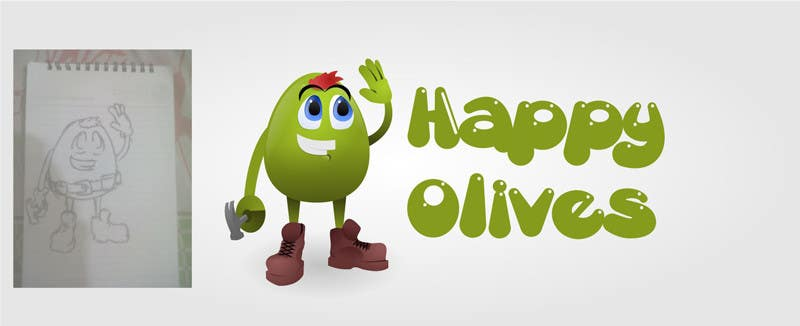 """Intrarea #6 pentru concursul """"Design a Logo for Happy Olives - Construction"""""""