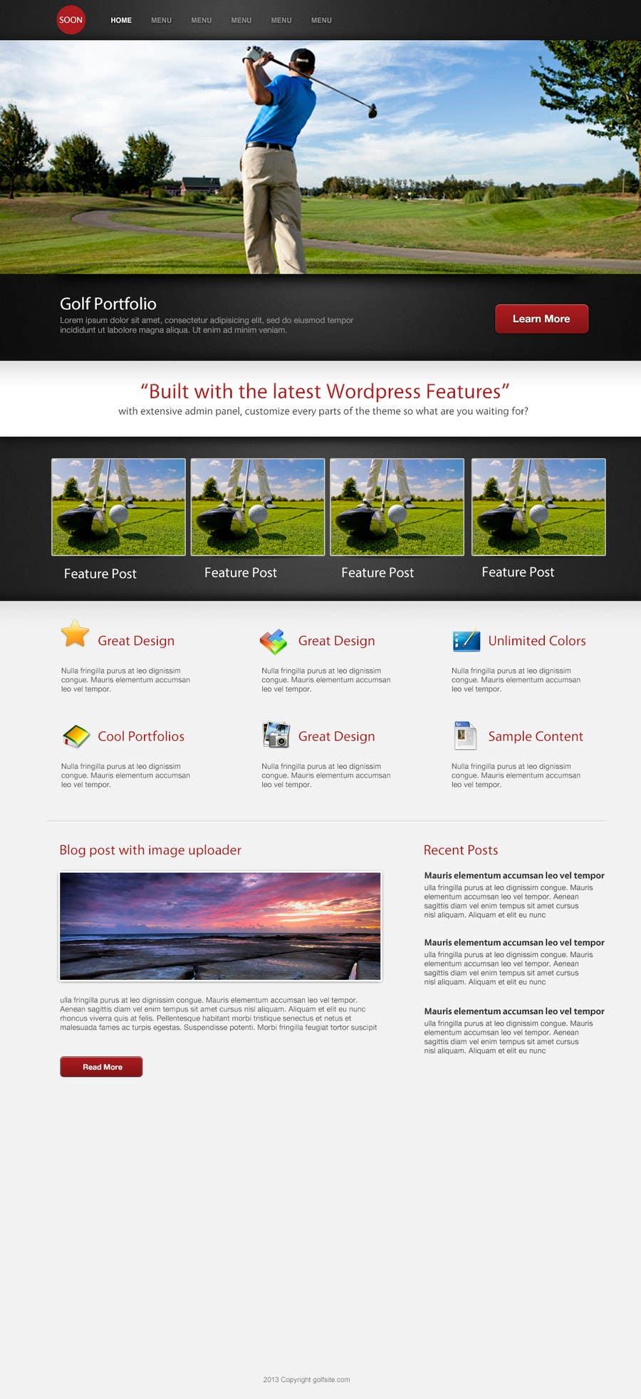 Penyertaan Peraduan #                                        6                                      untuk                                         Wordpress Theme Design for GB Golfer