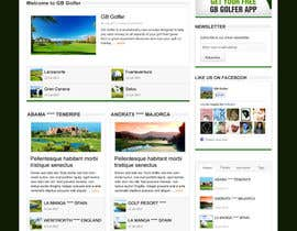 nº 7 pour Wordpress Theme Design for GB Golfer par gerardway