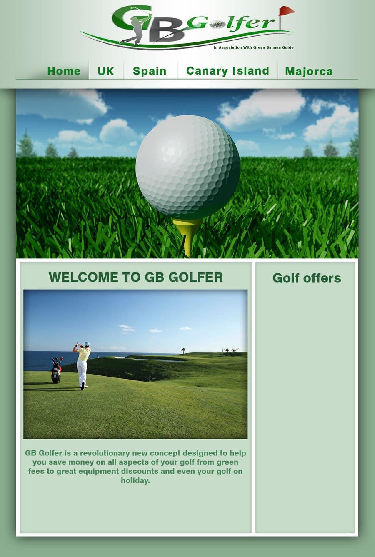 Penyertaan Peraduan #                                        3                                      untuk                                         Wordpress Theme Design for GB Golfer