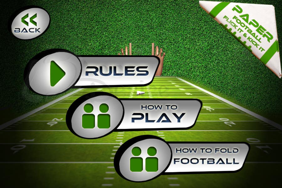 #147 for Graphic Design - Give our Paper Football Game Menus a NEW LOOK! by logodesire