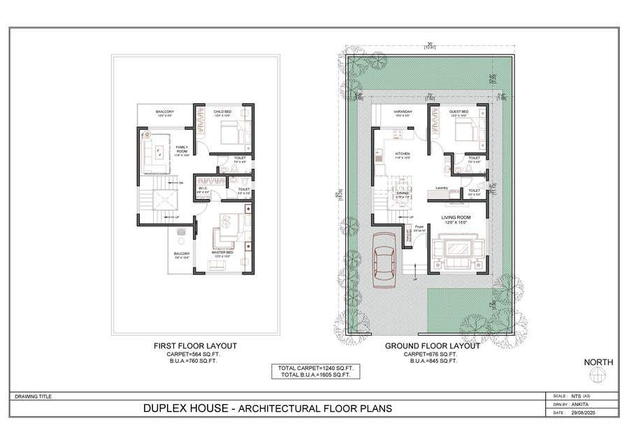 Conceptual Plan For A Duplex House Freelancer