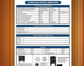 #125 for Design and Easy to Use Order Form / Flyer by baduruzzaman