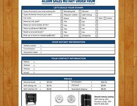#143 for Design and Easy to Use Order Form / Flyer by baduruzzaman