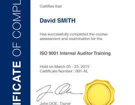 #25 for I need some Graphic Design for training certificate by Miuna