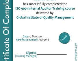 #22 for I need some Graphic Design for training certificate by ashstriker