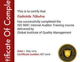 #40 for I need some Graphic Design for training certificate by ashstriker