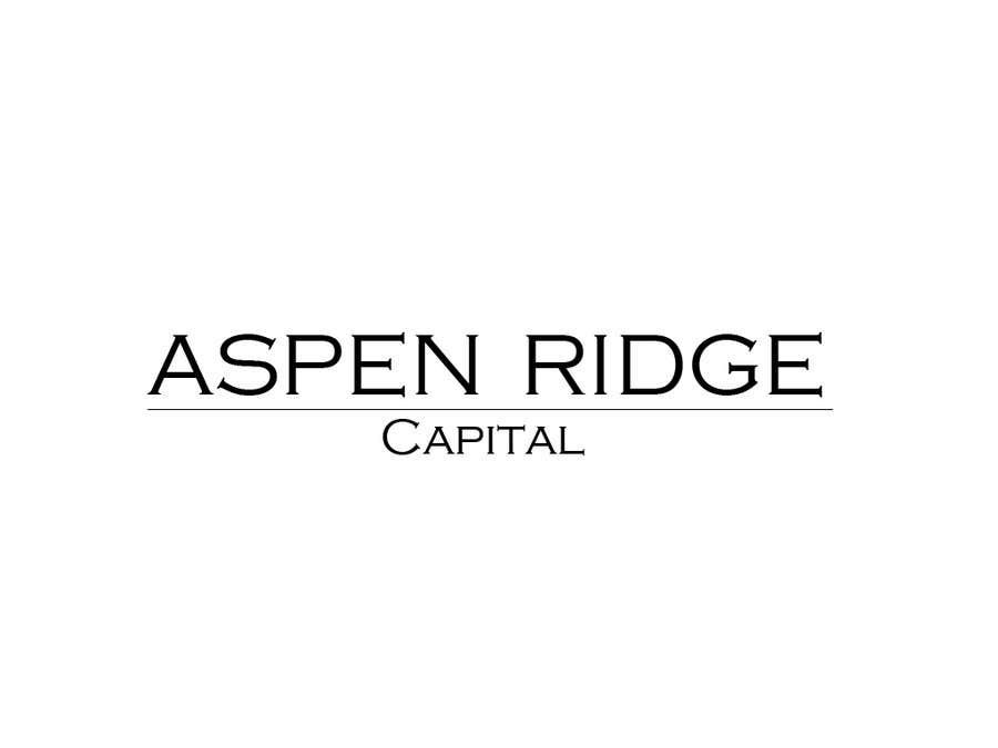 Penyertaan Peraduan #32 untuk Design a Logo for Aspen Ridge Capital LLC