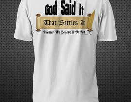 #37 pentru Scroll Design for back of White T-shirt de către Franstyas