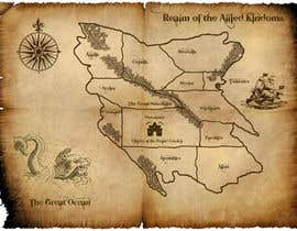 #12 para Design a fantasy map for my novel de sandrasreckovic