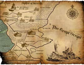 #20 para Design a fantasy map for my novel por sandrasreckovic