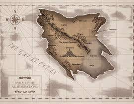 #15 dla Design a fantasy map for my novel przez Anohreul