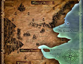 #9 dla Design a fantasy map for my novel przez Spector01