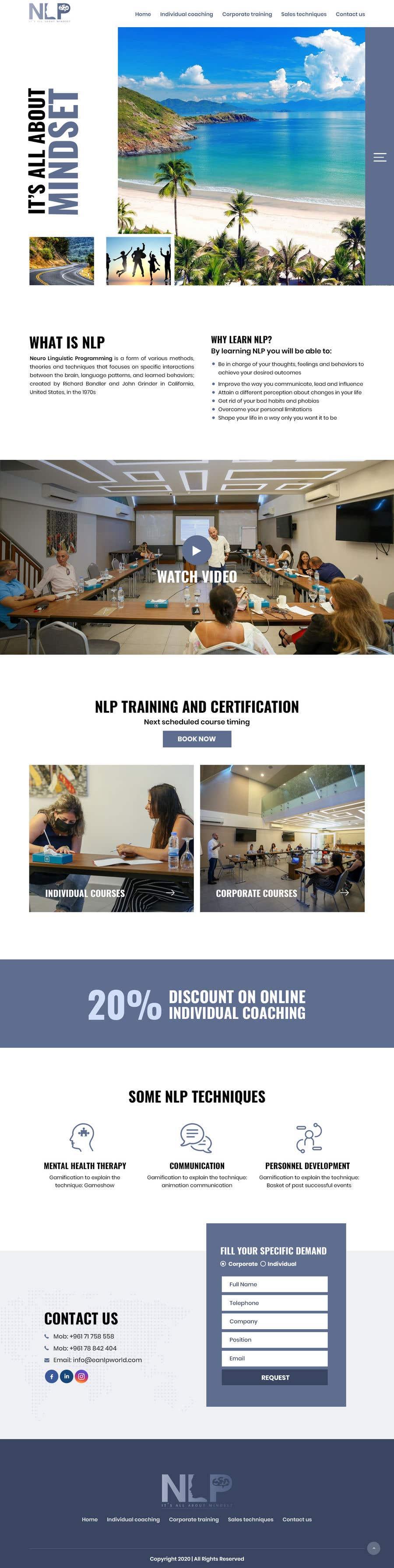 Penyertaan Peraduan #                                        42                                      untuk                                         design and build life coaching website