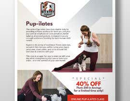 """#173 for Flyers for my dog training class """"Pup-ilates"""" by Hasan628"""
