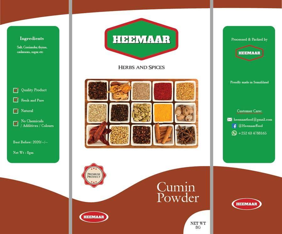 Konkurrenceindlæg #                                        28                                      for                                         Spice Pouch Packaging Design