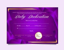 #10 para Baby Dedication Certificate por jaydeepvirani26