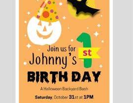 Nro 82 kilpailuun Quick Invitation Design, Halloween Birthday käyttäjältä aatir2