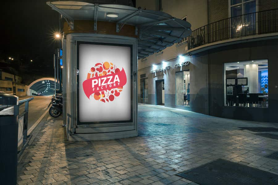 Kilpailutyö #                                        5                                      kilpailussa                                         Branding mockups for Pizza company