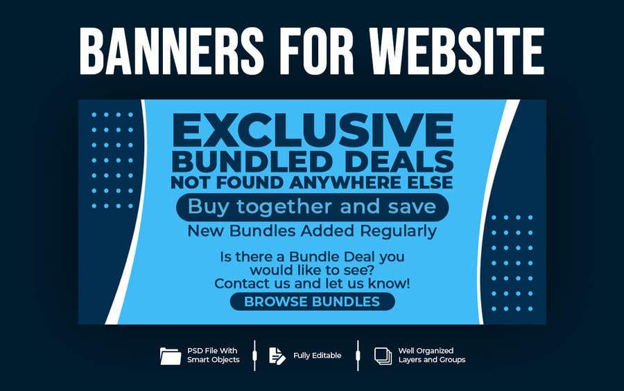 Konkurrenceindlæg #                                        53                                      for                                         Need Bundle Deals Banners for Website