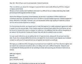 #25 cho Letter for monies owed bởi somparna