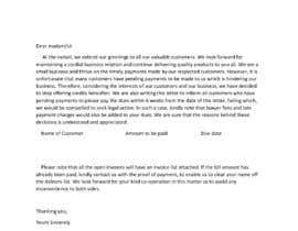 #20 cho Letter for monies owed bởi Bioedit99