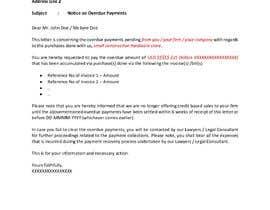 #27 cho Letter for monies owed bởi moideemmuseem