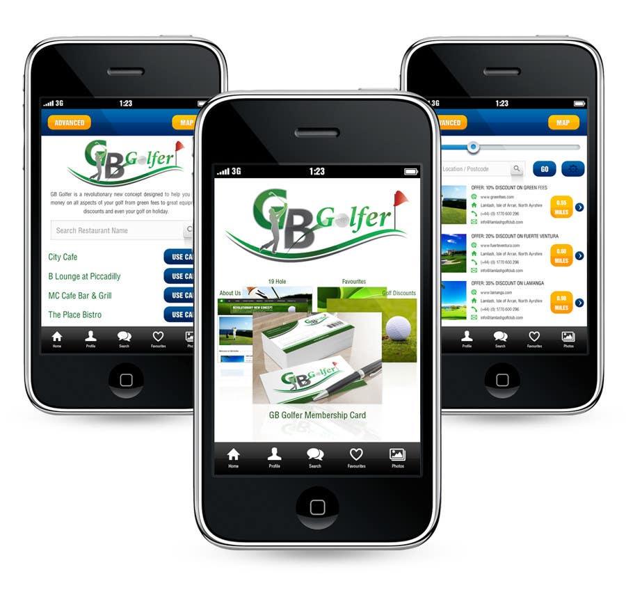 #7 for App Skin Design For GB Golfer by gerardway