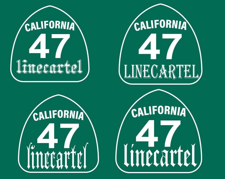 Kilpailutyö #                                        15                                      kilpailussa                                         Line cartel freeway sign