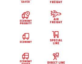 #80 untuk Group of shipping type icon oleh fal5a76ab656ebee