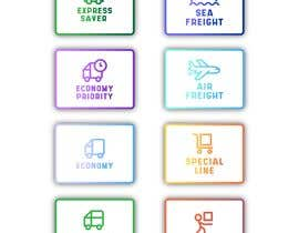 #96 untuk Group of shipping type icon oleh fal5a76ab656ebee