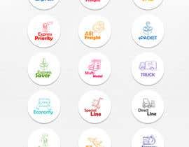 #95 untuk Group of shipping type icon oleh iwawangmuhammad