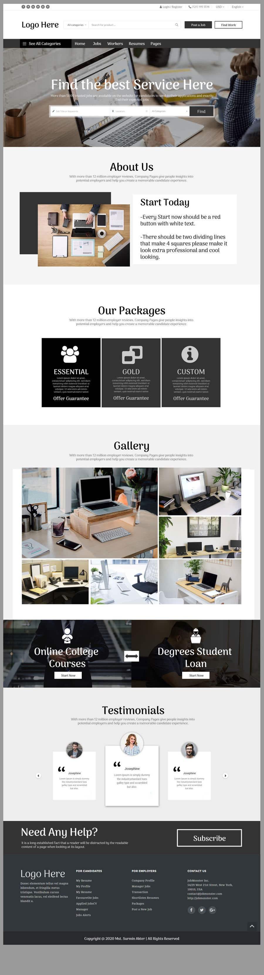 Kilpailutyö #                                        8                                      kilpailussa                                         Create a design for job/idea sharing website