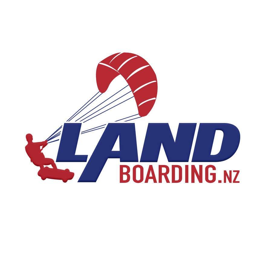 Penyertaan Peraduan #                                        83                                      untuk                                         Logo design for Kite Landboarding, e.g. Kitesurfing, mountainboarding