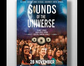 #209 for Design an A3 poster for a live music event with space theme. af Joy2025