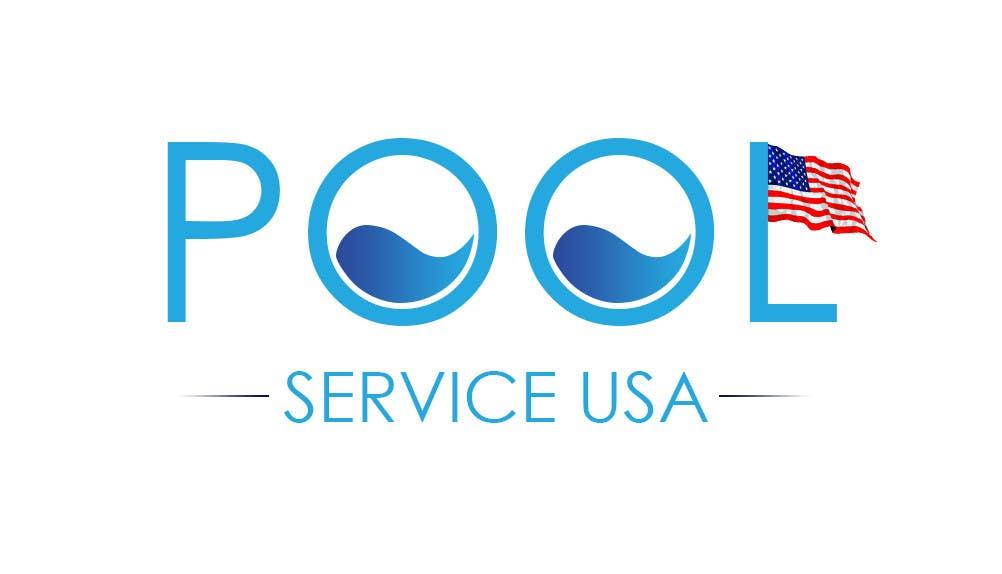 Konkurrenceindlæg #                                        20                                      for                                         Pool Service USA Logo
